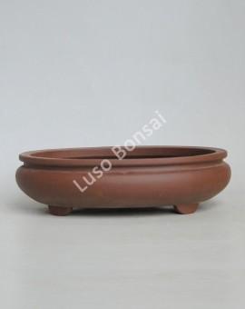 Vaso Oval 33x27x8 cm SE Escuro