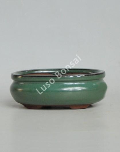 Vaso Oval 15,5x12x5,5 cm Verde