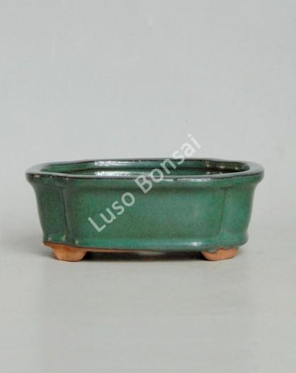 Vaso Rectangular 15.5x12x5.5 cm Verde