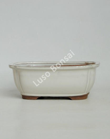 Vaso Rectangular 30.5x24.5x9 cm Creme