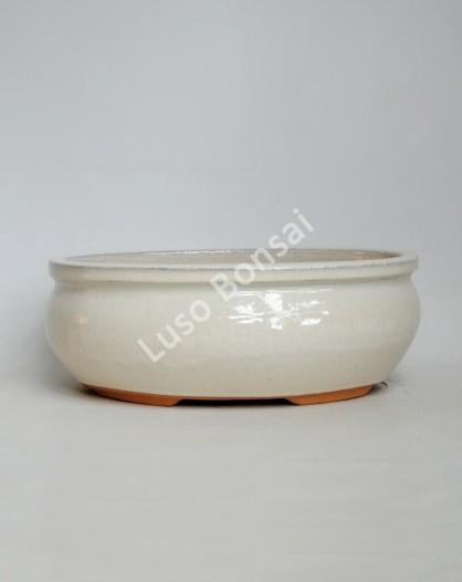 Vaso Oval 37,5x32x12 cm Creme