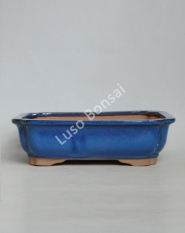 Vaso Rectangular 30.5x25x8 cm Azul