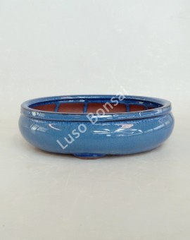Vaso Oval 22.5x17.5x7 cm Azul