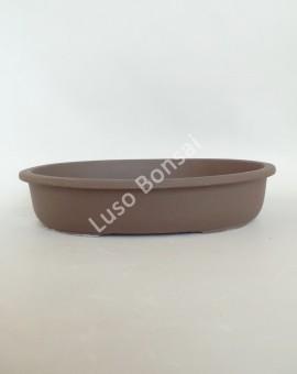 Vaso Oval 31x23x5 cm SE Escuro