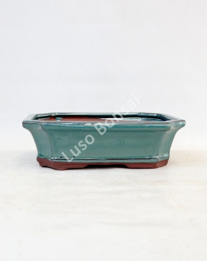Vaso Rectangular 25x8,5x7 cm Verde