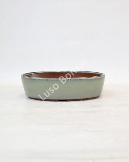 Vaso Oval 21x16x5,5 cm Verde