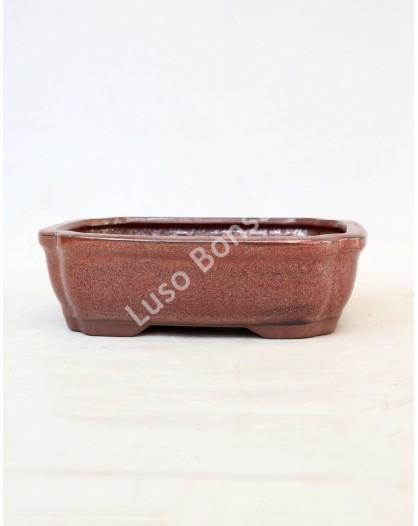 Vaso Rectangular 20x16x6.5cm Castanho Oxido
