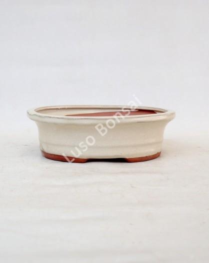 Vaso Oval 25.5x20.5x8 cm Creme