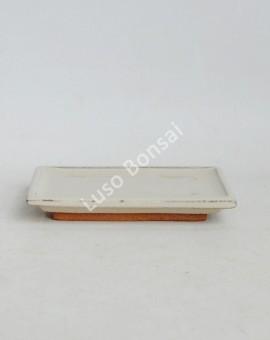 Prato rectangular 23x14x2 cm Creme