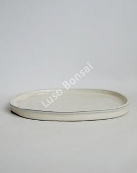 Prato oval 34x26x3 cm Creme