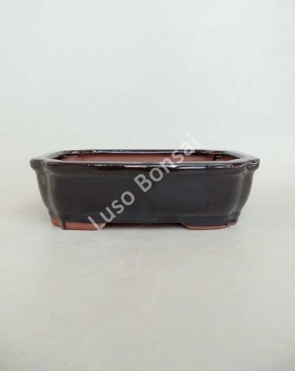 Vaso Rectangular 22x17x6.5cm Preto