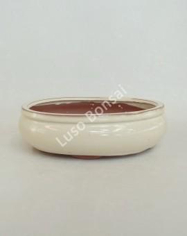 Vaso Oval 26.5x20,5x8 cm Creme