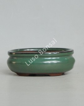 Vaso Oval 21x16,5x7cm Verde