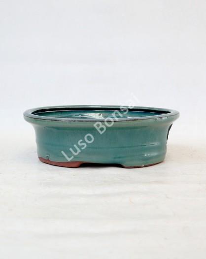 Vaso Oval 15.5x11.5x5.5 cm Verde
