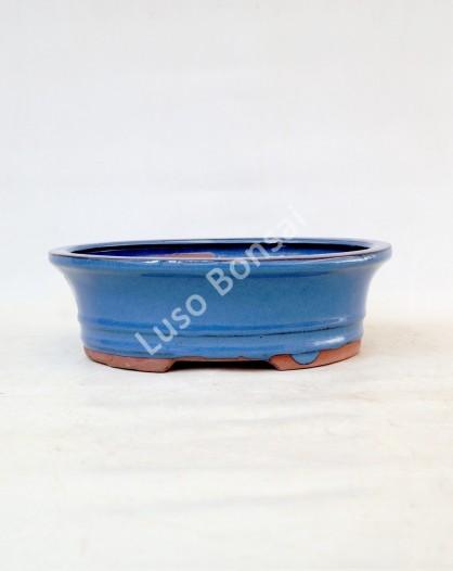 Vaso Oval 15.5x11.5x5.5 cm Azul