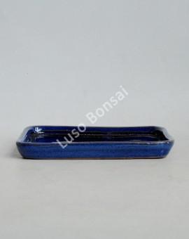 Prato rectangular 21x15x2 cm Azul