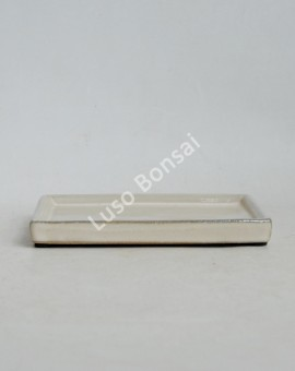 Prato rectangular 21x15,3x2 cm Creme