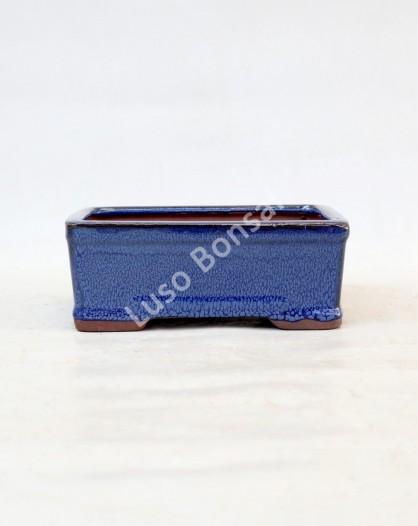 Vaso Rectangular 18x13,5x7 cm Azul