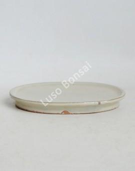 Prato oval 22.5x15x1.5cm Creme