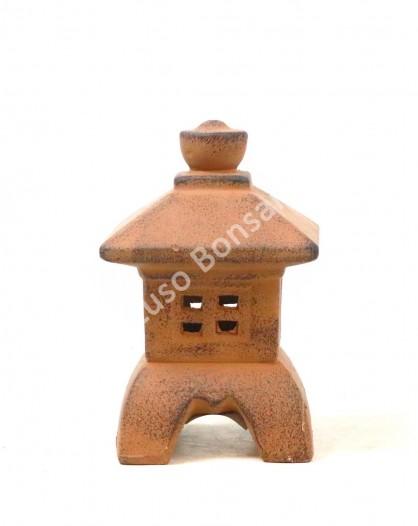 Lanterna Cerâmica Mini Brown -18x10x10cm
