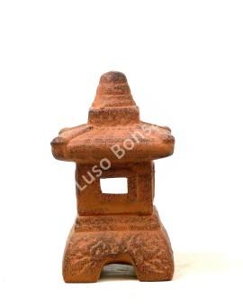 Lanterna Cerâmica Mini Brown - 18x10x10 cm