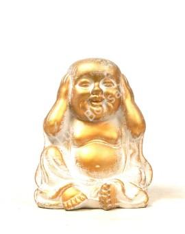 """Buddha Cerâmico Pequeno """"No Hear"""""""