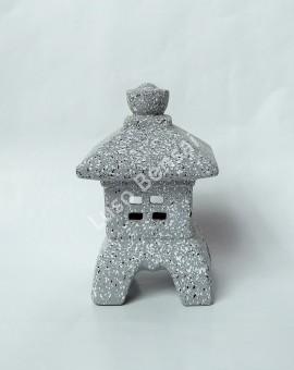 Lanterna Cerâmica Mini Granite - 18x10x10cm