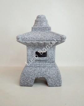 Lanterna Cerâmico Média Granite - 28x18x18cm