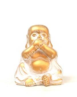 """Buddha Cerâmico Pequeno """"No Speack"""""""